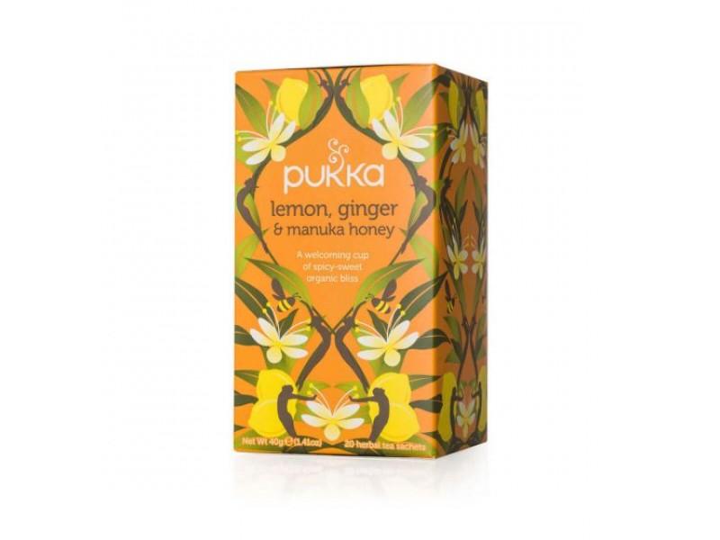 英國Pukka有機檸檬薑麥蘆卡蜂蜜茶 20包
