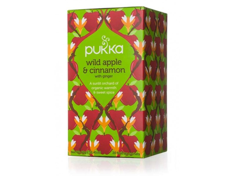 英國Pukka有機蘋果肉桂薑花茶包 內有20包