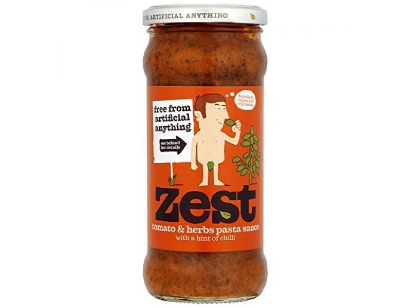 歐盟Zest 天然蕃茄香草小辣意粉醬 340g