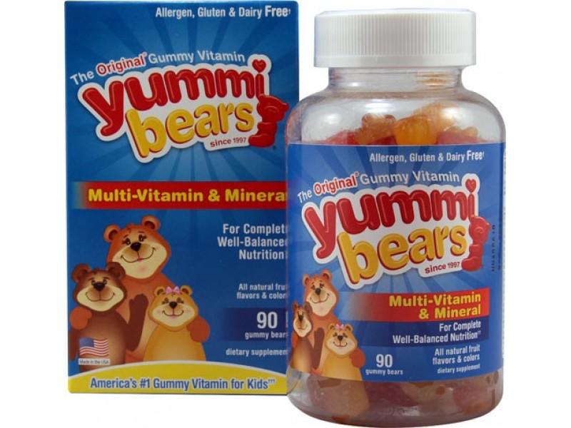 美國Yummi Bears多種維他命及礦物質軟糖 90粒
