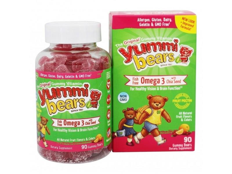 美國Yummi Bears奧米加3 + 奇亞籽軟糖 90粒