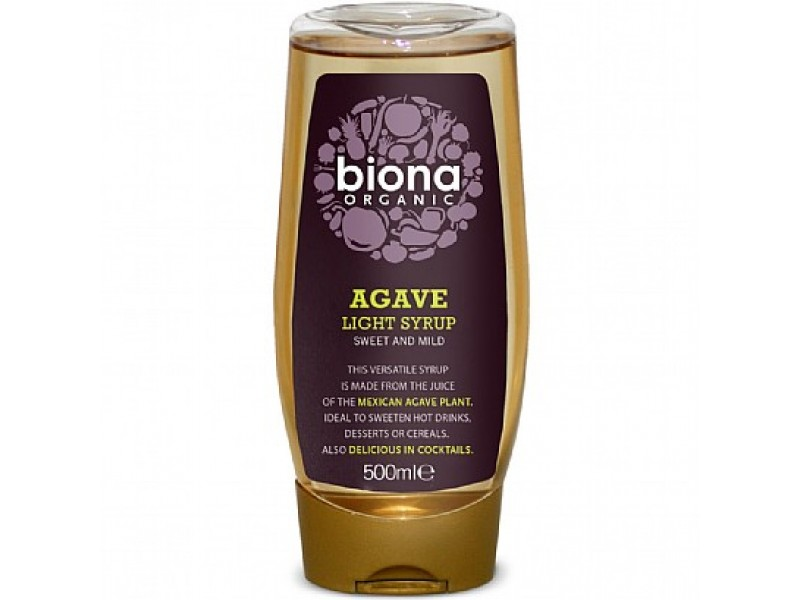 英國Biona龍舌蘭少甜糖漿 500mL