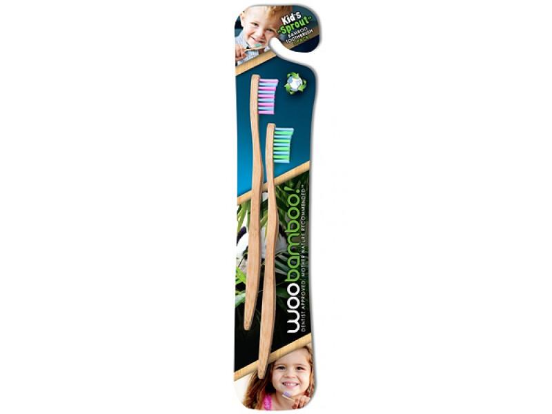 Woobamboo 天然竹製兒童牙刷(2支裝)