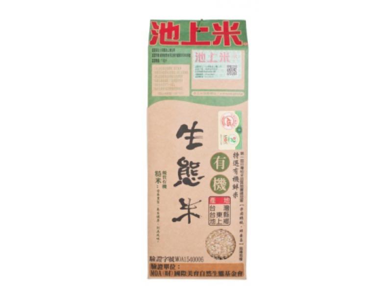 池上米 有機生態米-糙米 1.5kg