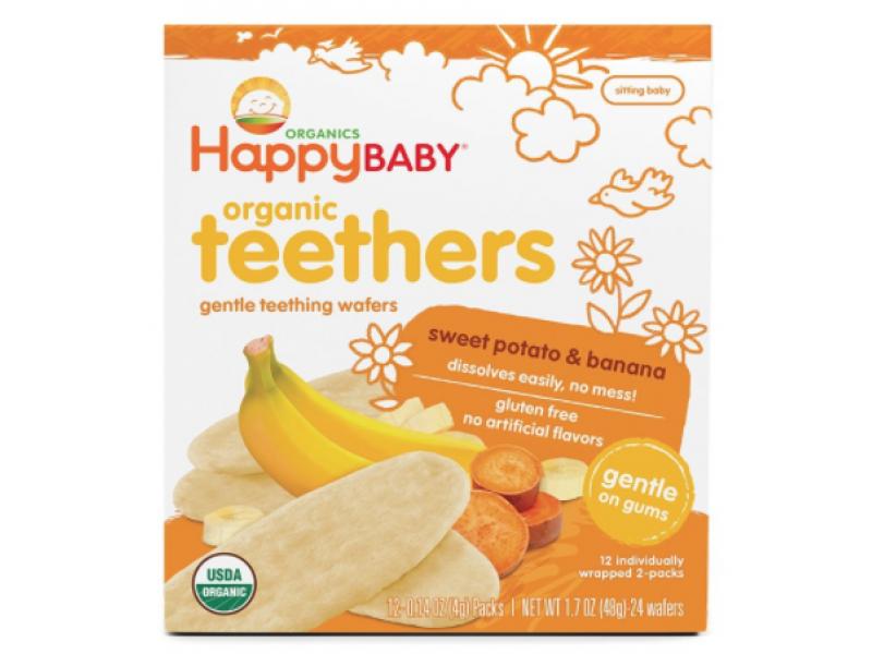 泰國 HAPPY BABY 有機香蕉/甜薯牙仔餅 48g