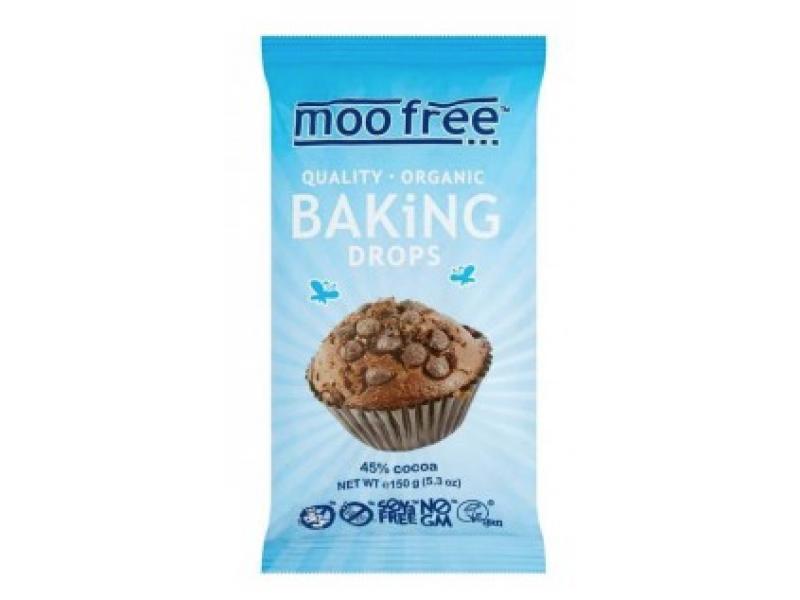 英國 MOO FREE有機烘焙朱古力粒 150g