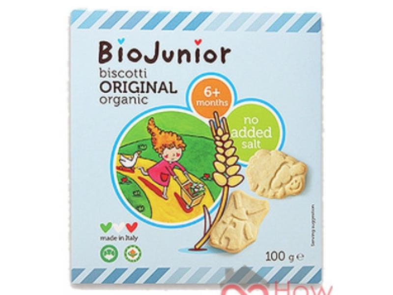 意大利 BIOJUNIOR有機寶寶趣味餅乾原味 100g