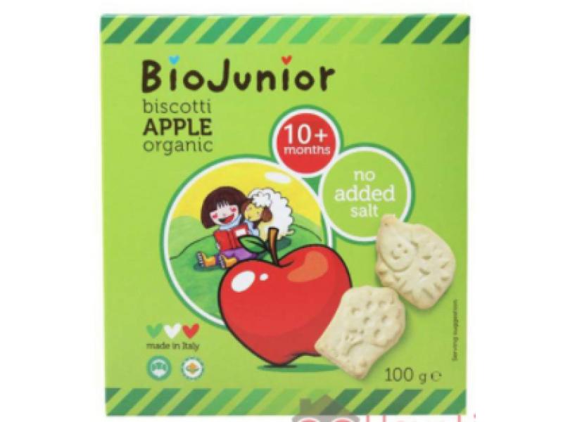 意大利 BIOJUNIOR有機寶寶趣味餅蘋果味 100g