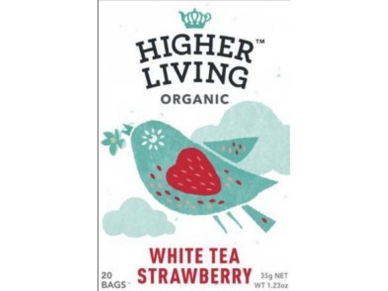 英國Higher Living 有機草莓白茶 20Bags
